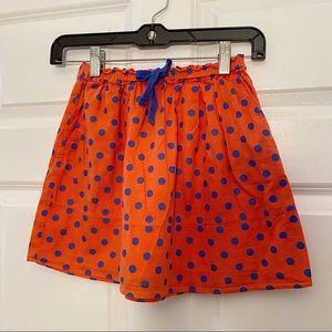 Crewcuts Orange Blue polka Dot Skirt